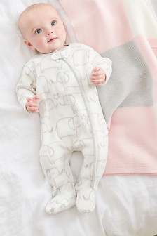 Elephant Fleece Sleepsuit (0mths-3yrs)