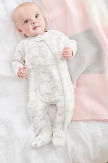 Флисовая пижама с отделкой в виде слона (0 мес. - 3 лет)