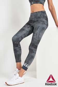 Reebok Black Work Out Ready 7/8 Printed Leggings