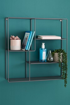 Grey Wire Square Shelf
