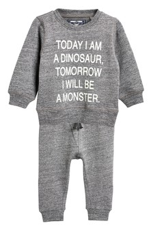 Monster Slogan Crew And Jogger Set (3mths-6yrs)