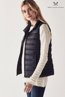 Crew Clothing Company Blue Lightweight Gilet