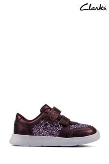 Clarks Berry Leather Ath Sonar Trainers