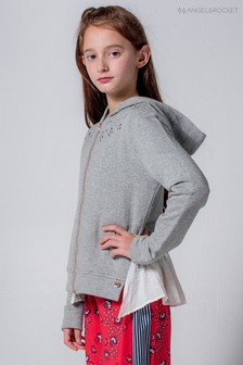 Angel & Rocket Grey Jewel Hoody