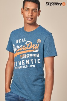 Superdry Blue Vintage Authentic Script T-Shirt