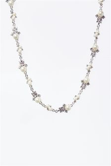 Pearl Effect Detail Necklace