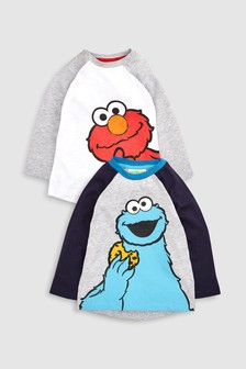 Cookie Monster And Elmo T-Shirts Two Pack (3mths-6yrs)