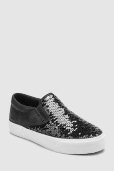 נעלי סקייטר עם פאייטים (נוער)
