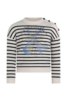 Girls Ivory Cashmere & Wool Knitted Sweater