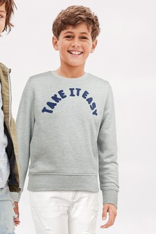 Slogan Sweat Top (3-16yrs)