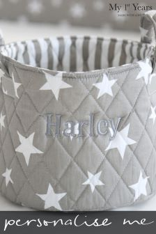 Personalised Embroidered Name Small Quilted Storage Bag By My 1st Years