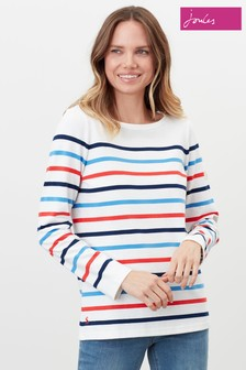 Joules Cream Harbour Long Sleeve Jersey Top