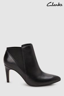 Clarks Black Laina Violet Ankle Shoe Boot