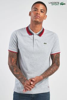Lacoste® Sport Silver Chine Tipped Polo