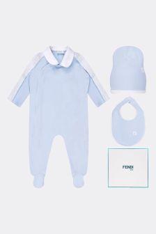 Fendi Kids Baby Cotton Babygrow Gift Set