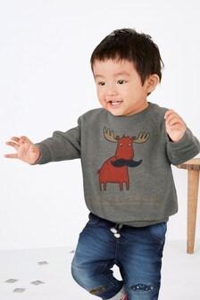 Джемпер разноцветной узорной вязки (3 мес.-6 лет)