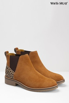 White Stuff Tan Leah Chelsea Boot