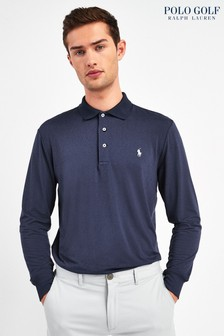 Ralph Lauren Polo Golf Navy Long Sleeve Poloshirt