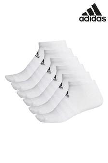 adidas White Low Socks Six Pack