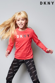 DKNY Girls Logo Long Sleeve Tee