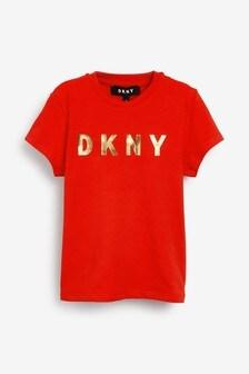 T-Shirt mit DKNY-Logo, rot