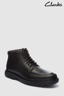 Clarks Youth Black Asher Street Lace Up Boot