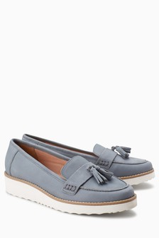 Leather EVA Tassel Loafers