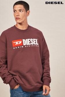 Diesel® Division Crew Logo Sweater