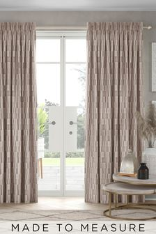 Blush Blocks Made To Measure Curtains