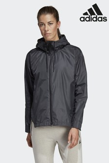 adidas Grey Urban Climastorm Wind Jacket