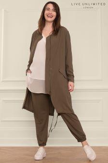 Live Unlimited Khaki Linen Trouser
