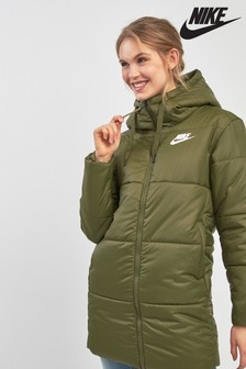 Nike Khaki Reversible Synthetic Fill Parka