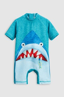Shark Appliqué Sunsafe Suit (3mths-6yrs)