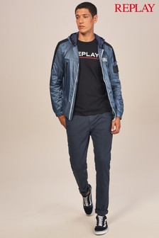 Replay® Navy Hyperflex Trousers