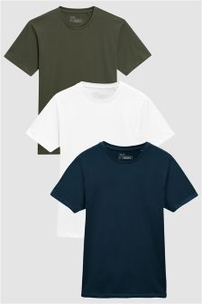 Crew Neck T-Shirts Three Pack