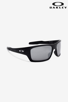 Oakley® Black/Silver Turbine Sunglasses