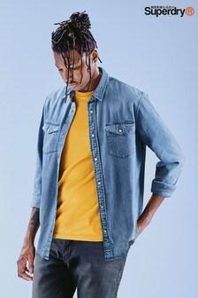 Superdry Blue Denim Long Sleeve Shirt