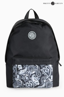Pretty Green Black Backpack