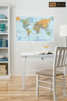 Wall Pops World Map Wall Sticker