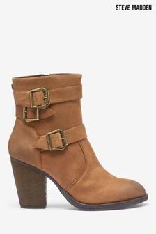 Steve Madden Ya Cognac Buckle Boots