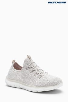Skechers® Natural Flex Appeal 2 Clear Cut Taupe Crochet Bungee