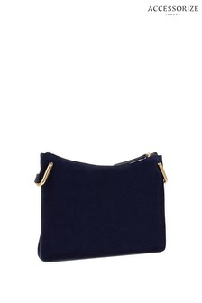 Accessorize Blue Brooke Leather Cross Body Bag