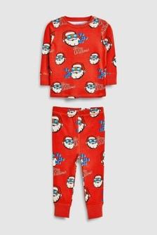 Pyjama confortable à motif père noël (9 mois - 12 ans)