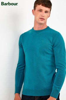Barbour® Blue Essential Crew Neck Sweater