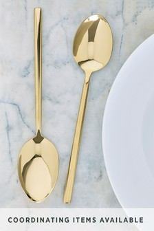 Set of 2 Kensington Gold Effect Serving Spoons
