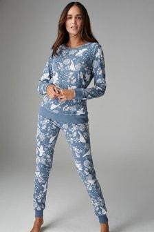 Pyjama en coton à motif oiseau