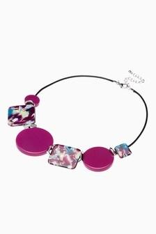 Resin Detail Short Necklace
