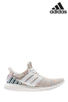 adidas Run White Print UltraBoost Trainers