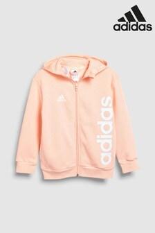 adidas Pink Full Zip Hoody