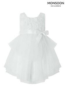 Monsoon Eliona Baby-Kleid, cremeweiß